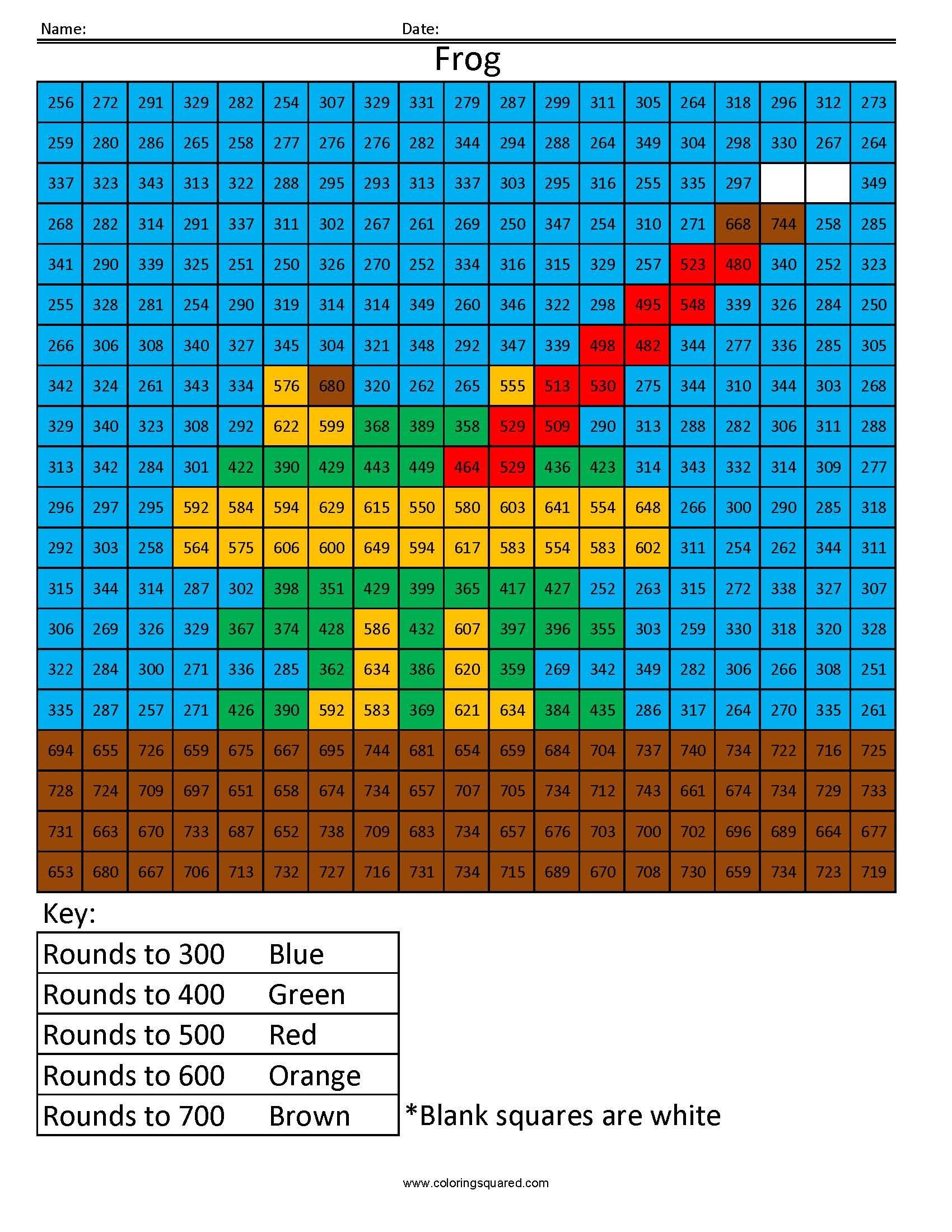 Starfish Rounding Tens Place Coloring Squared Free Math Worksheets Rounding Decimals Worksheet Decimals Worksheets [ 2200 x 1700 Pixel ]