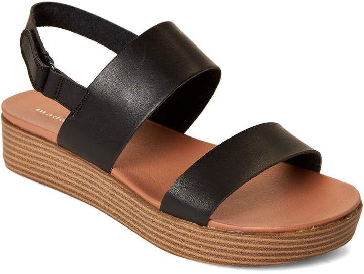 Black Ashley Platform Slingback Sandals
