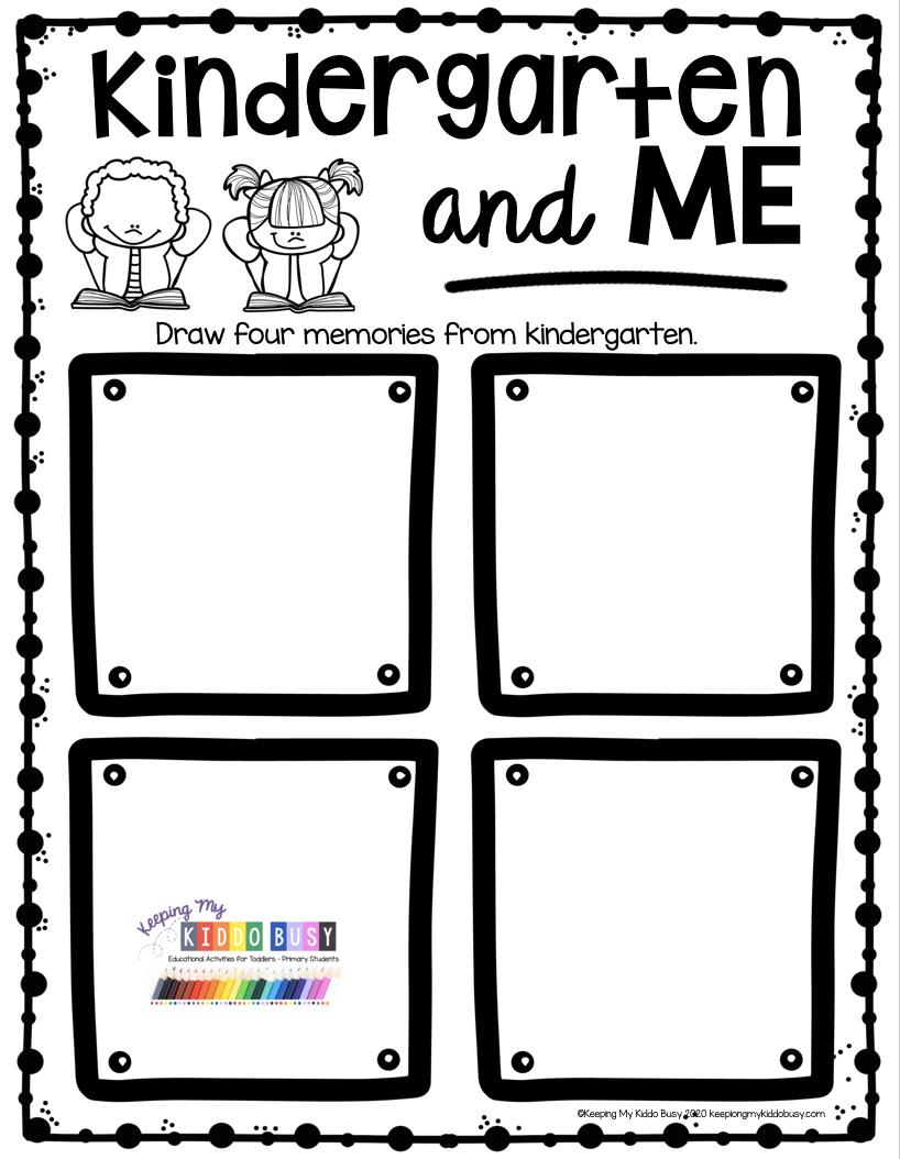 End Of The School Year In Kindergarten Free Printables Keeping My Kiddo Busy Kindergarten Writing Prompts Kindergarten Worksheets Kindergarten Works [ 1054 x 818 Pixel ]