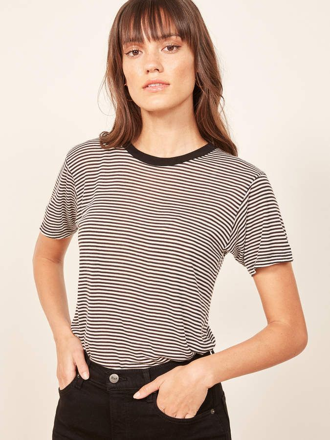 a730f21b Reformation Joplin Relaxed Tee. Easy. This is a relaxed fitting tee with  short sleeves and a crew neckline. #affiliate