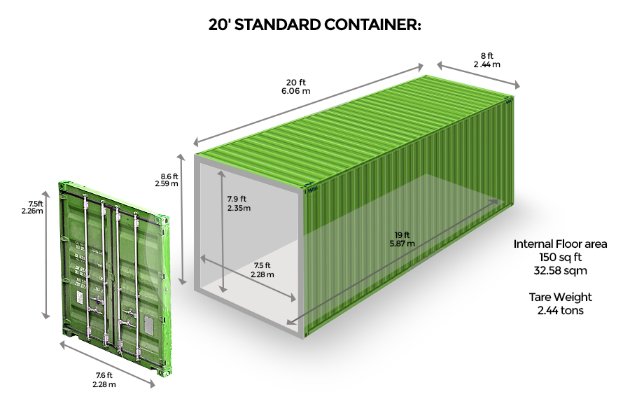 20 Standard Br Container Shipping Container Dimensions Shipping Container Shipping Container Storage