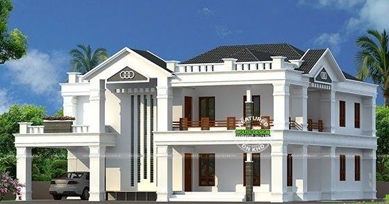 Semi Colonial Style 4 Bedroom Home Unique House Plans Colonial Style Homes House Front Design