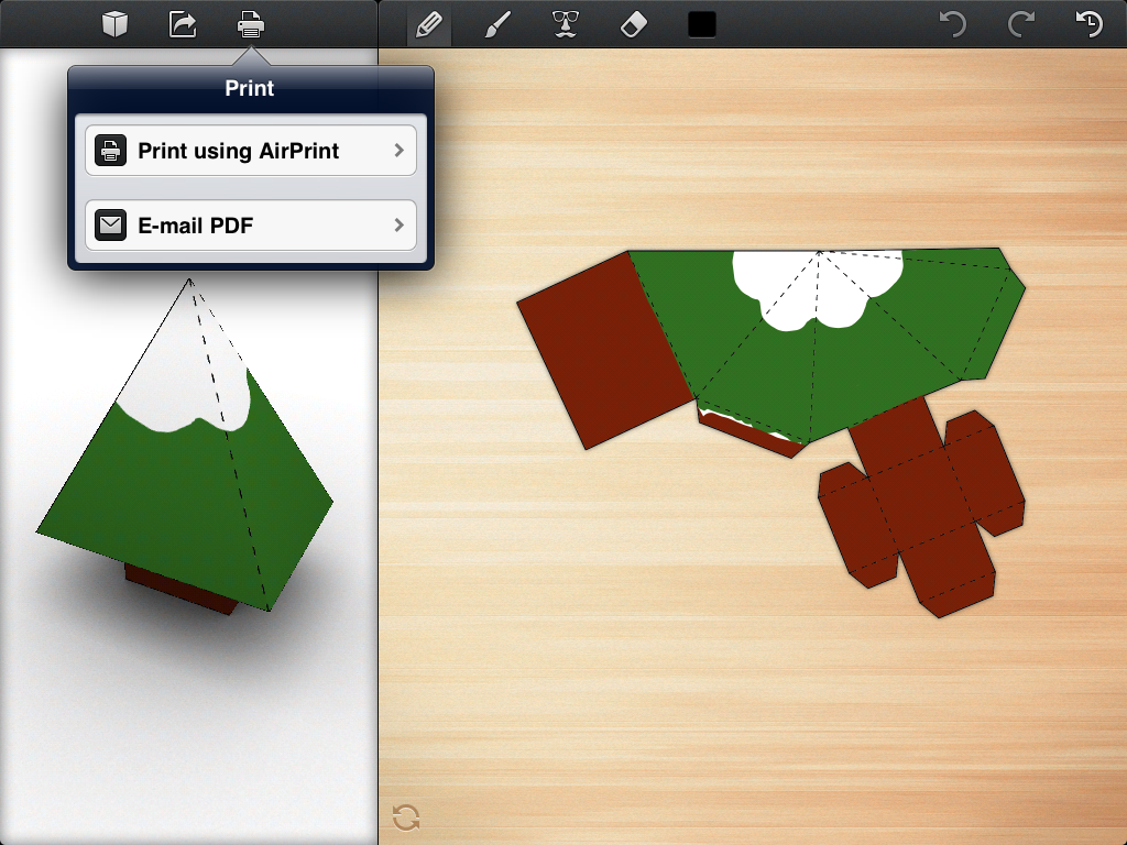 Foldify A Clever Papercraft App For iPad App, Paper