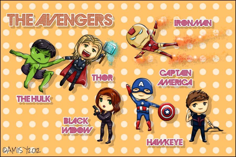 The Avengers Assemble! :) by ~LesioletteChrysanthe on deviantART