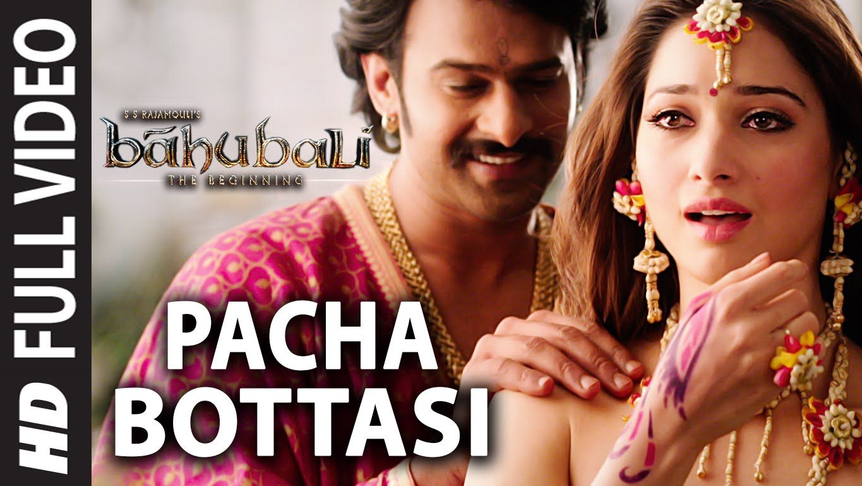 Pacha Bottasi Full Video Song Baahubali Telugu Prabhas Rana An Lagu Video Youtube