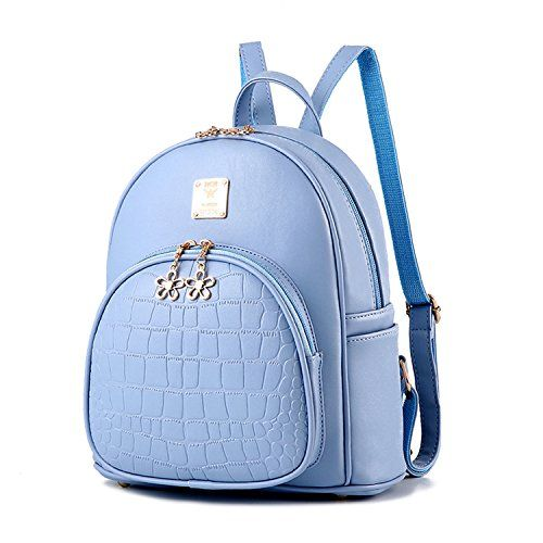 0531a3a0ec93 LCFUN Womens Small Backpack Cute Mini Leather Backpack Purse with Zipper