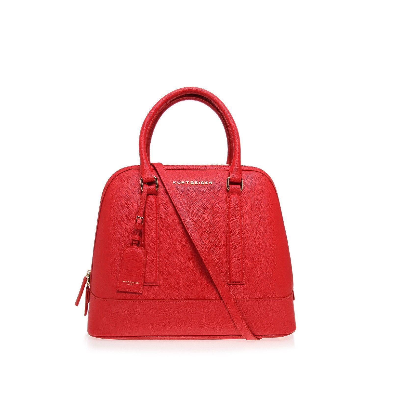 saffiano tall bowling bag, red accessory by kurt geiger london ...