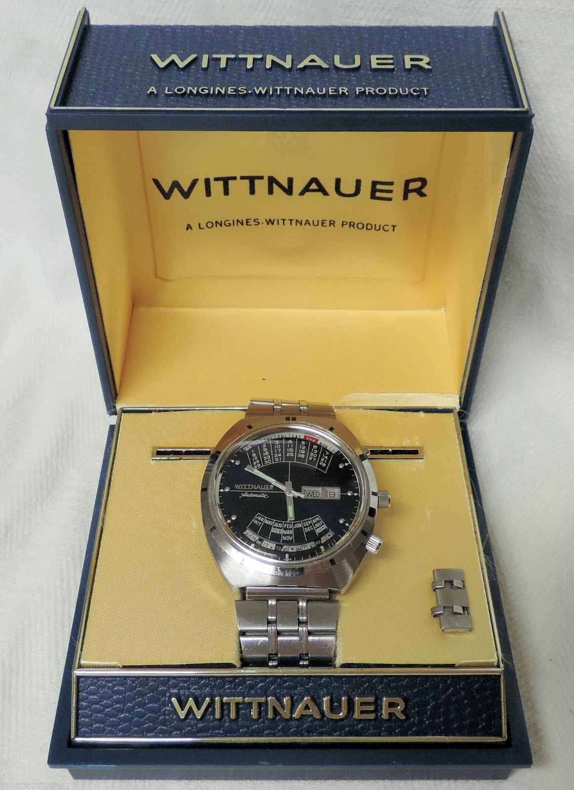 1970 S Wittnauer 2000 Perpetual Calendar Big Stainless Autowind