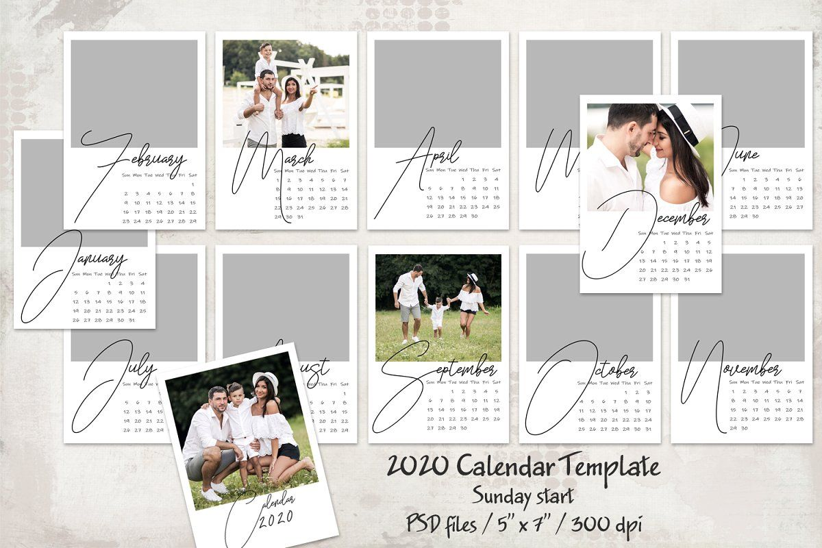 2020 Calendar Template Sunday Start 2020 Calendar Template Calendar Template Personalised Calendar