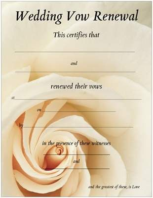 Vow Renewal Certificate Rose by Promised on Etsy, $10.00 ...