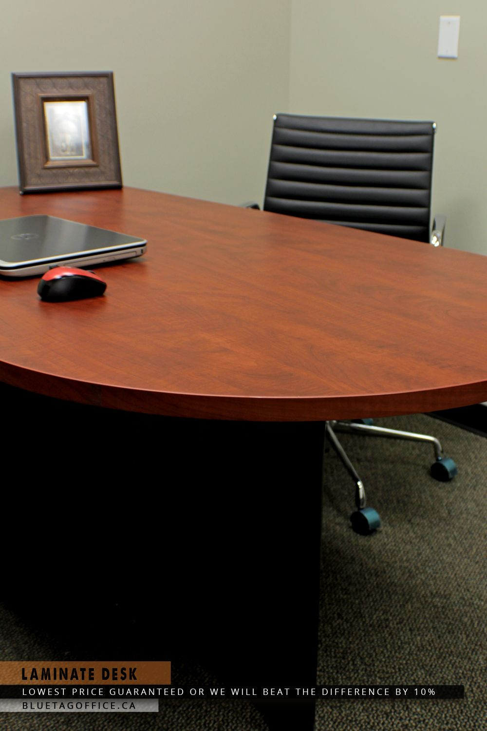 sturdy office desk for this high end office desk made from laminate wood is sleek and sturdy in design to