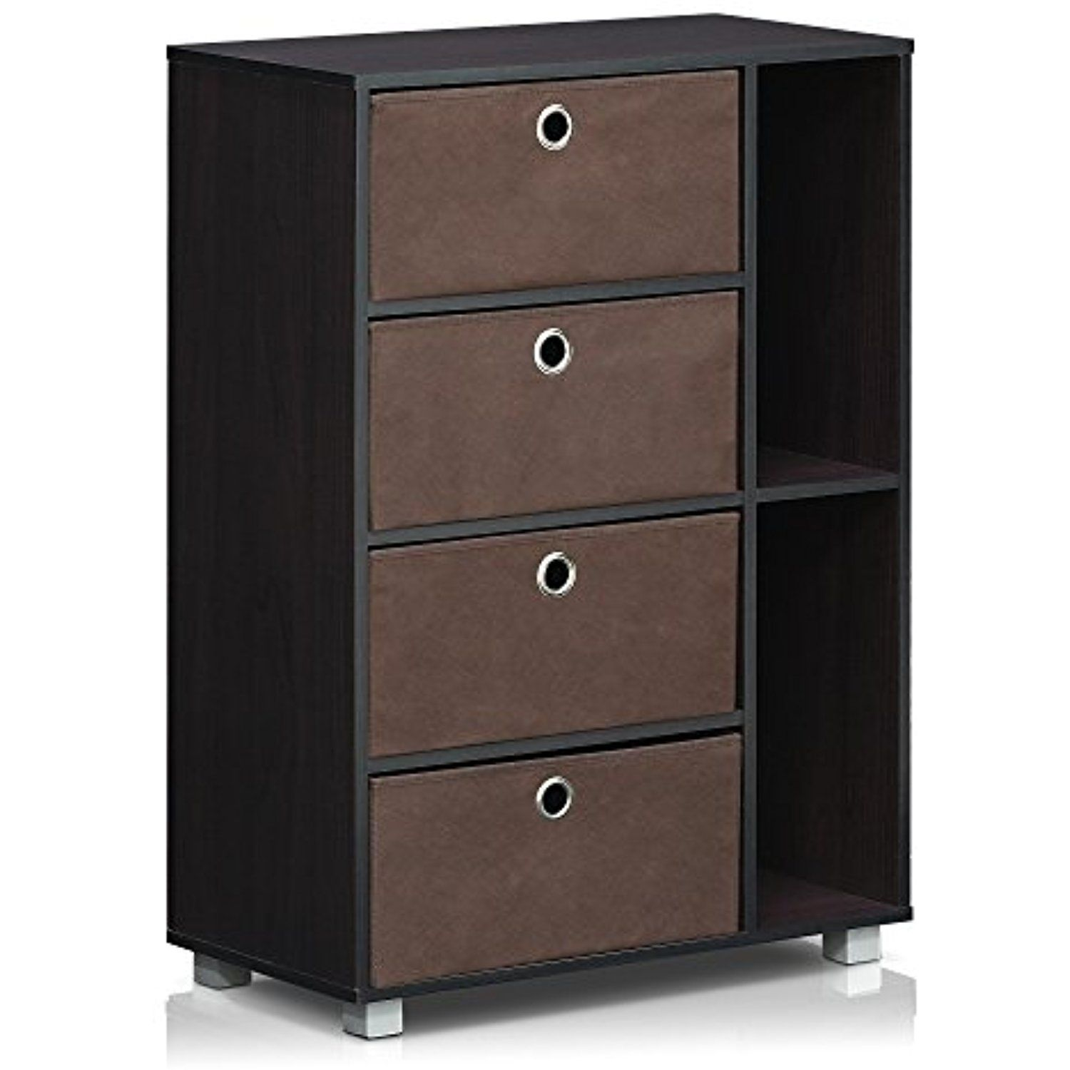 Furinno dwn multipurpose storage cabinet w bintype drawers