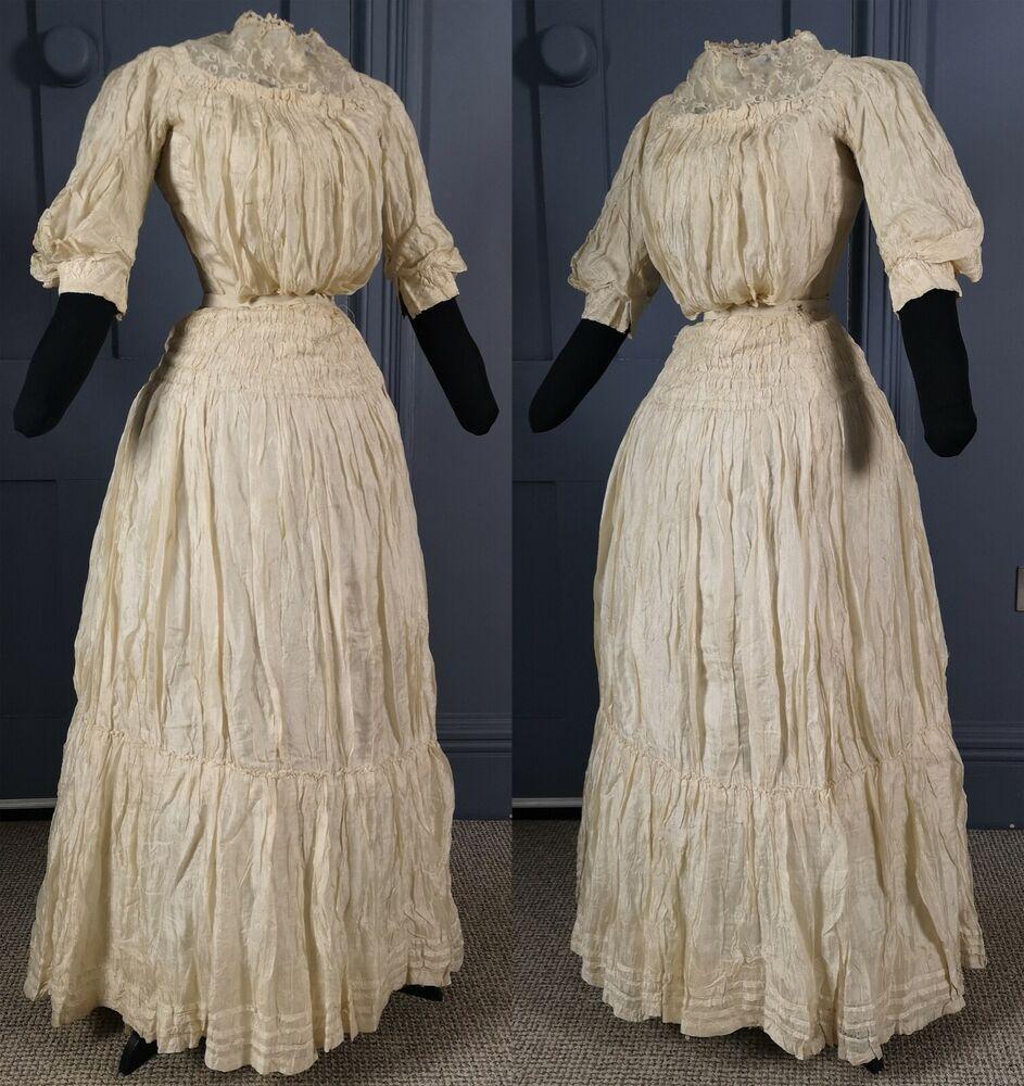 Elegant 1890s 1900s Victorian Edwardian Silk Summer Dress Antique Fashion Summerdress Specialoc Silk Summer Dress Edwardian Summer Dress Summer Dresses [ 1000 x 943 Pixel ]