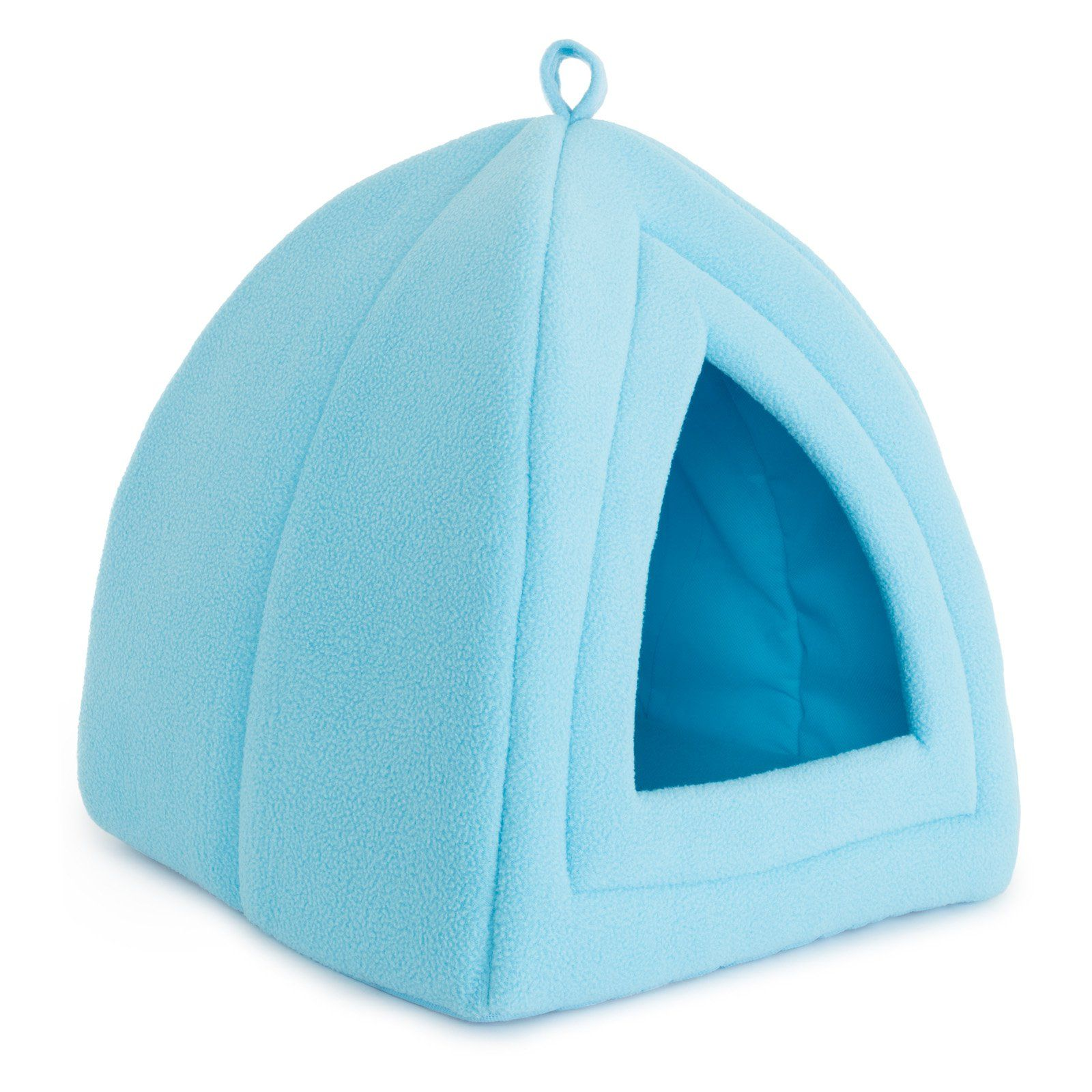 Petmaker Cozy Kitty Tent Igloo Plush Cat Bed Blue Cat