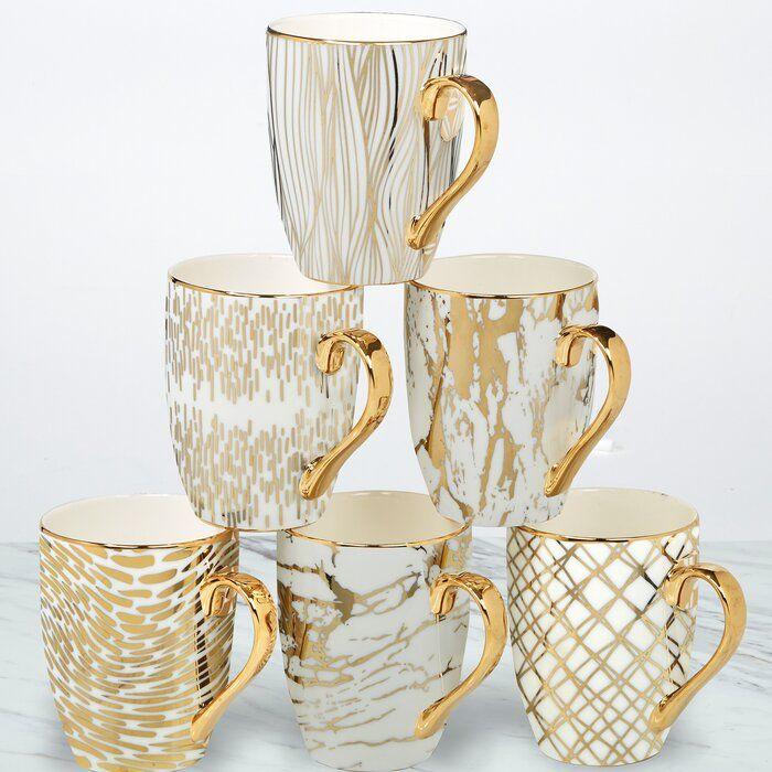 Best Mcwhorter 6 Piece Coffee Mug Set Mugs Set Mugs Coffee 400 x 300