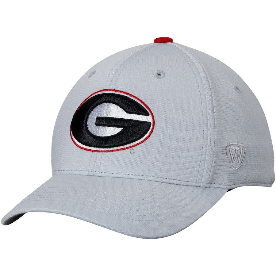 4dfe072c99b Georgia Bulldogs Top of the World Impact 1Fit Flex Hat - Gray