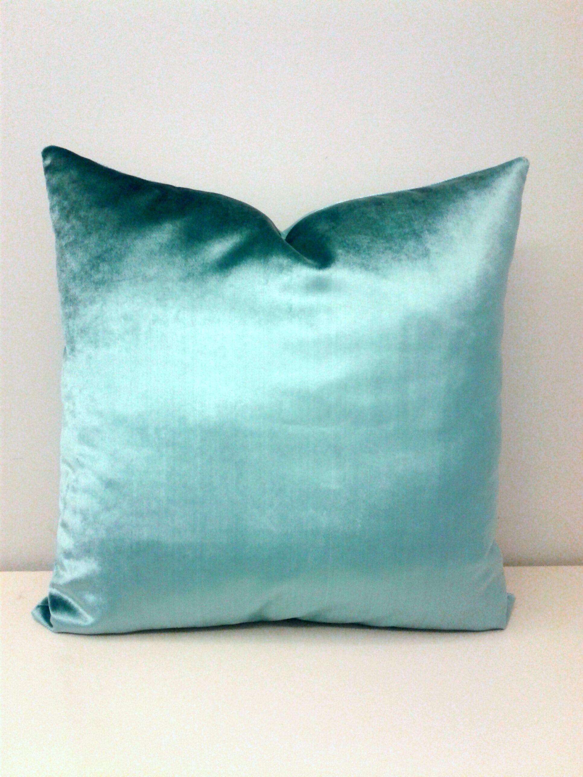 Turquoise Velvet Pillow Cover, Velvet Pillow, Turquoise Pillow ...