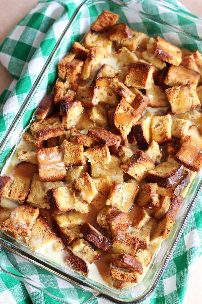 The Gold Lining Girl | Eggnog Bread Pudding with Butterscotch Sauce | http://thegoldlininggirl.com
