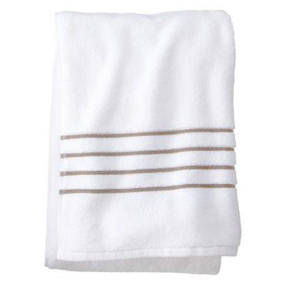 Fieldcrest Reg Luxury Stripe Accent Bath Towel Bath Towels