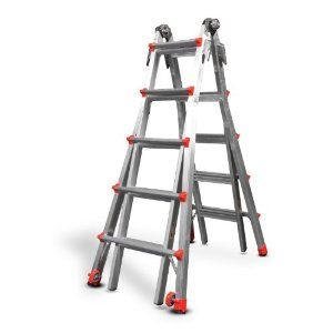 Little Giant 12022 Revolutionxe 300 Pound Duty Rating Multi Use Ladder 22 Foot Little Giants Ladder Warehouse Pallet Racking