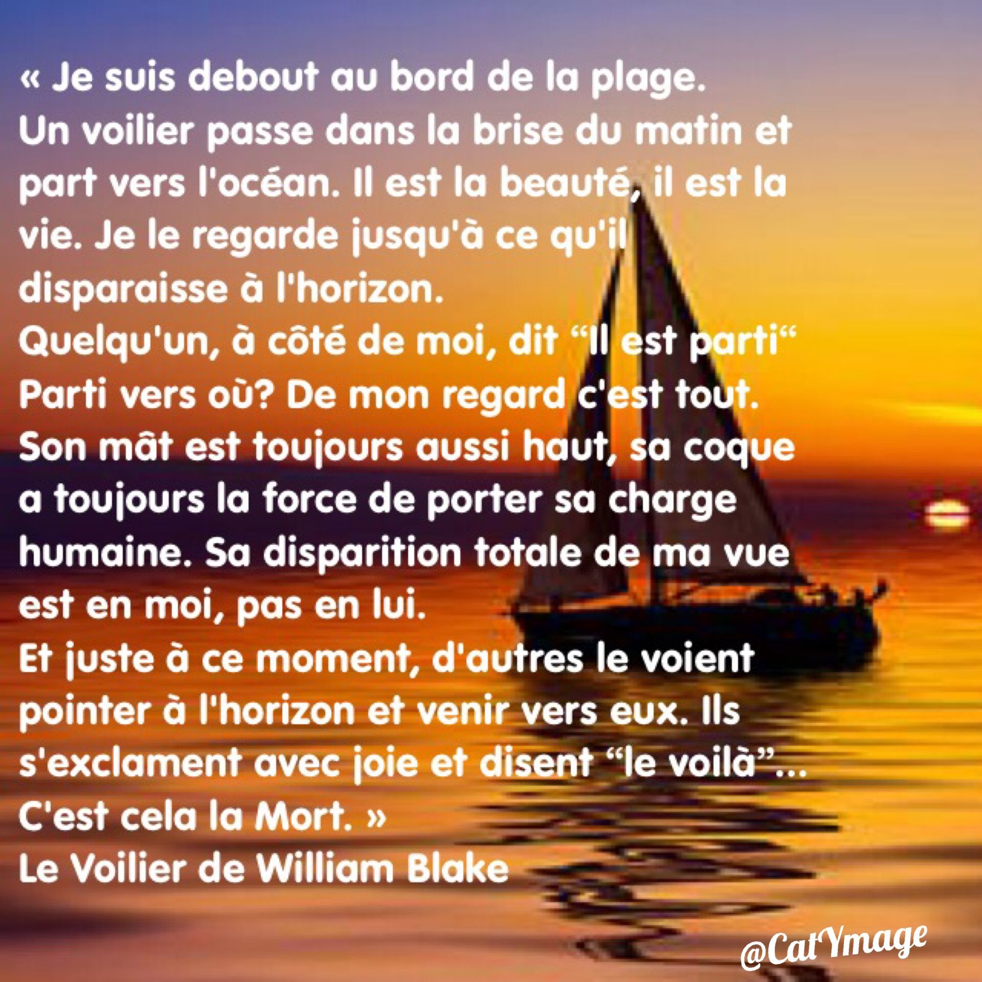 Le Voilier De William Blake William Blake Poème Mort