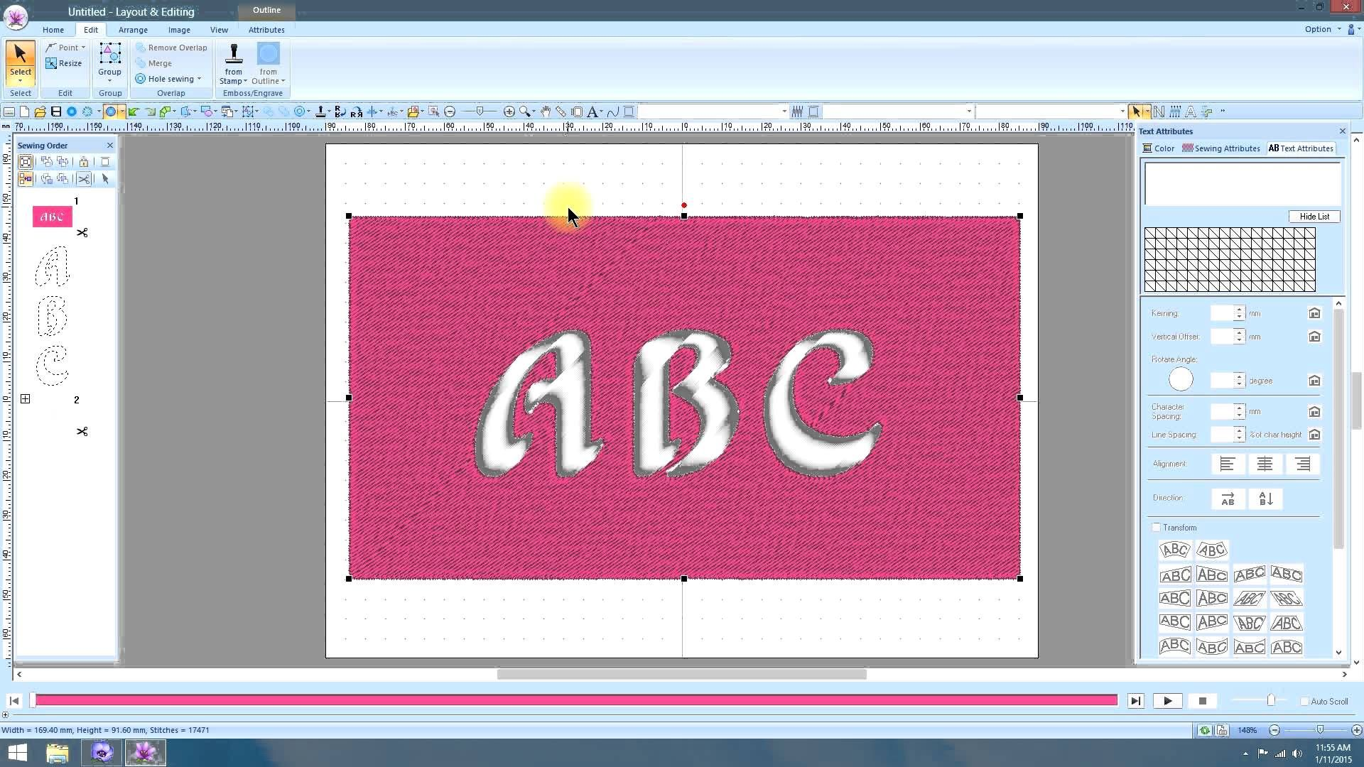 Pe Design 10 Removing Text Overlaps 3 Machine Embroidery