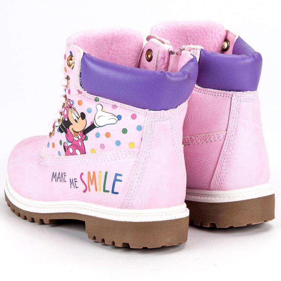 Kozaki Dla Dzieci Butymodne Rozowe Traperki Myszka Miki Dc Sneaker Sneakers Shoes