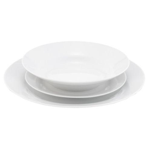 Buy Tesco Basics Porcelain 12 Piece Dinner Set from our Dinner Sets range at Tesco direct.  sc 1 st  Pinterest & Tesco Basics Porcelain Dinner Set 12 Piece 4 Person   For The ...