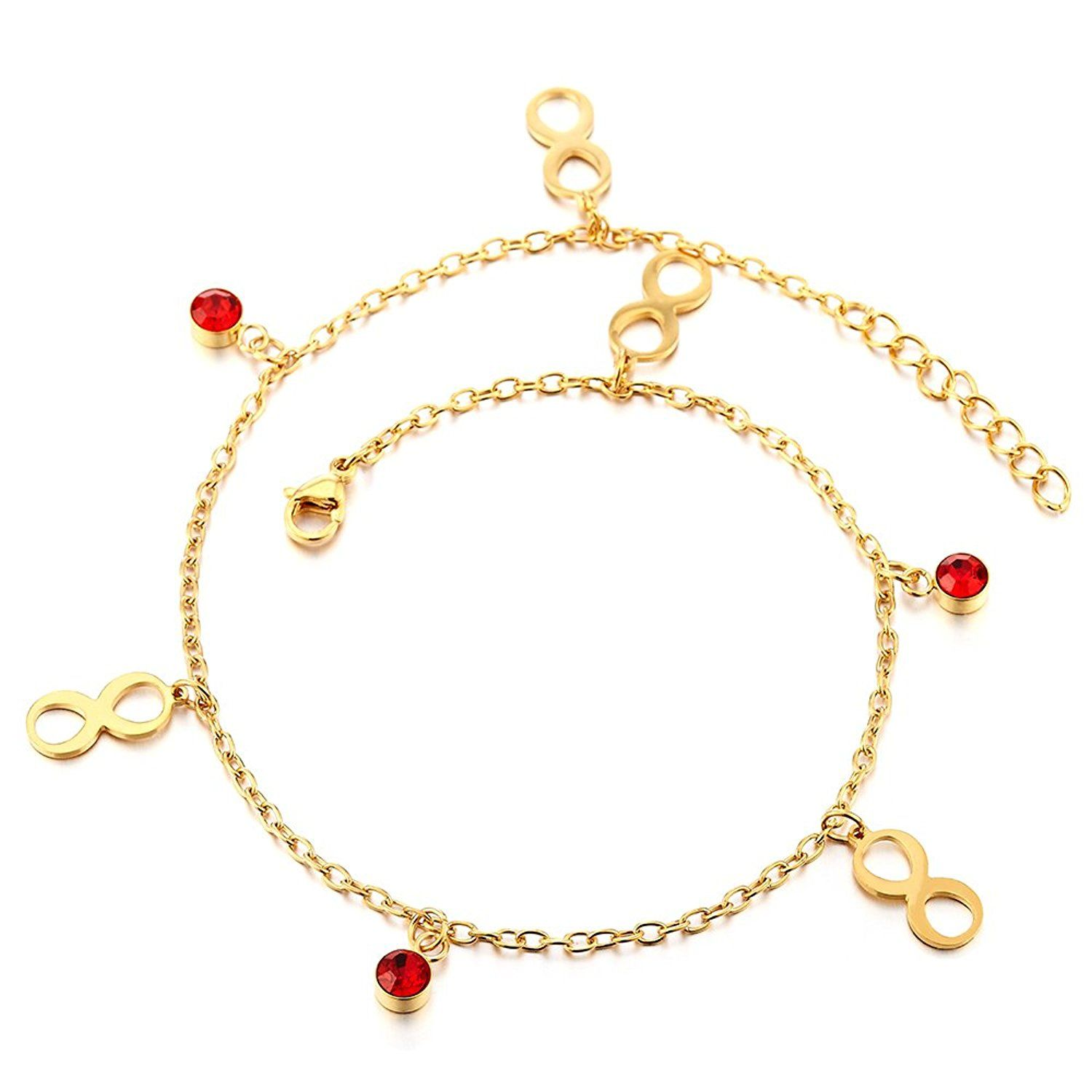 gold richard in cubic product close zirconia round cannon anklet white