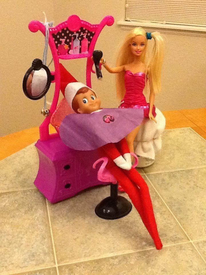 Haircut At The Barbie Hair Salon