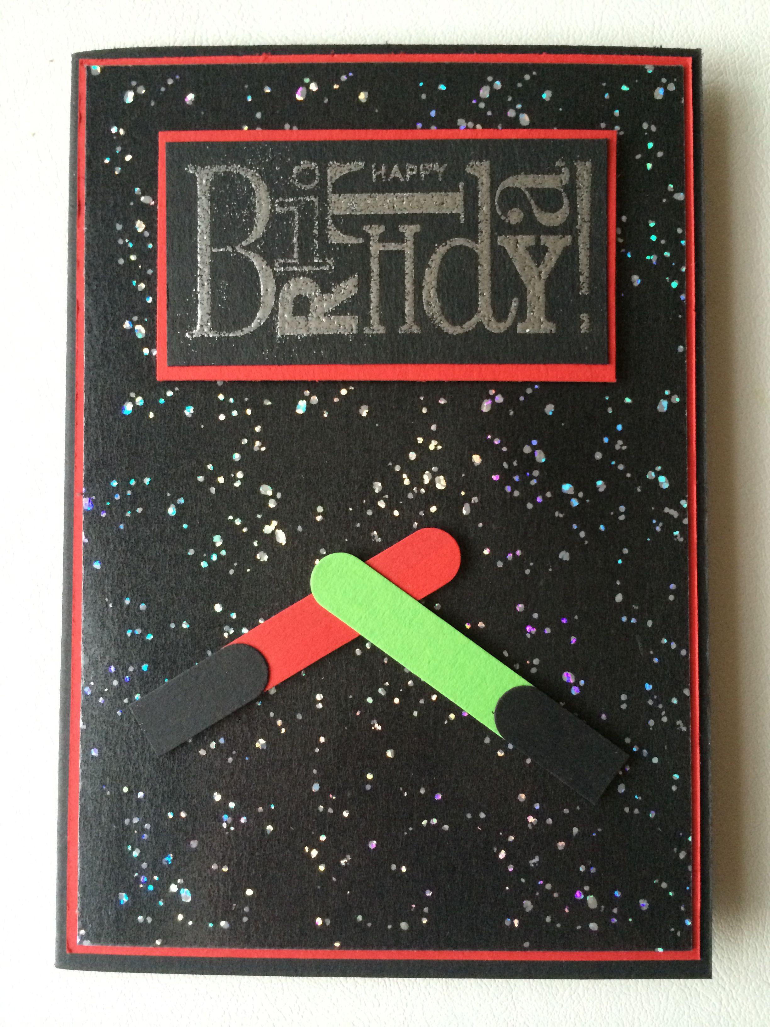 Star Wars Karte.Star Wars Geburtstagskarte Scrapbooking Kids Cards Baby