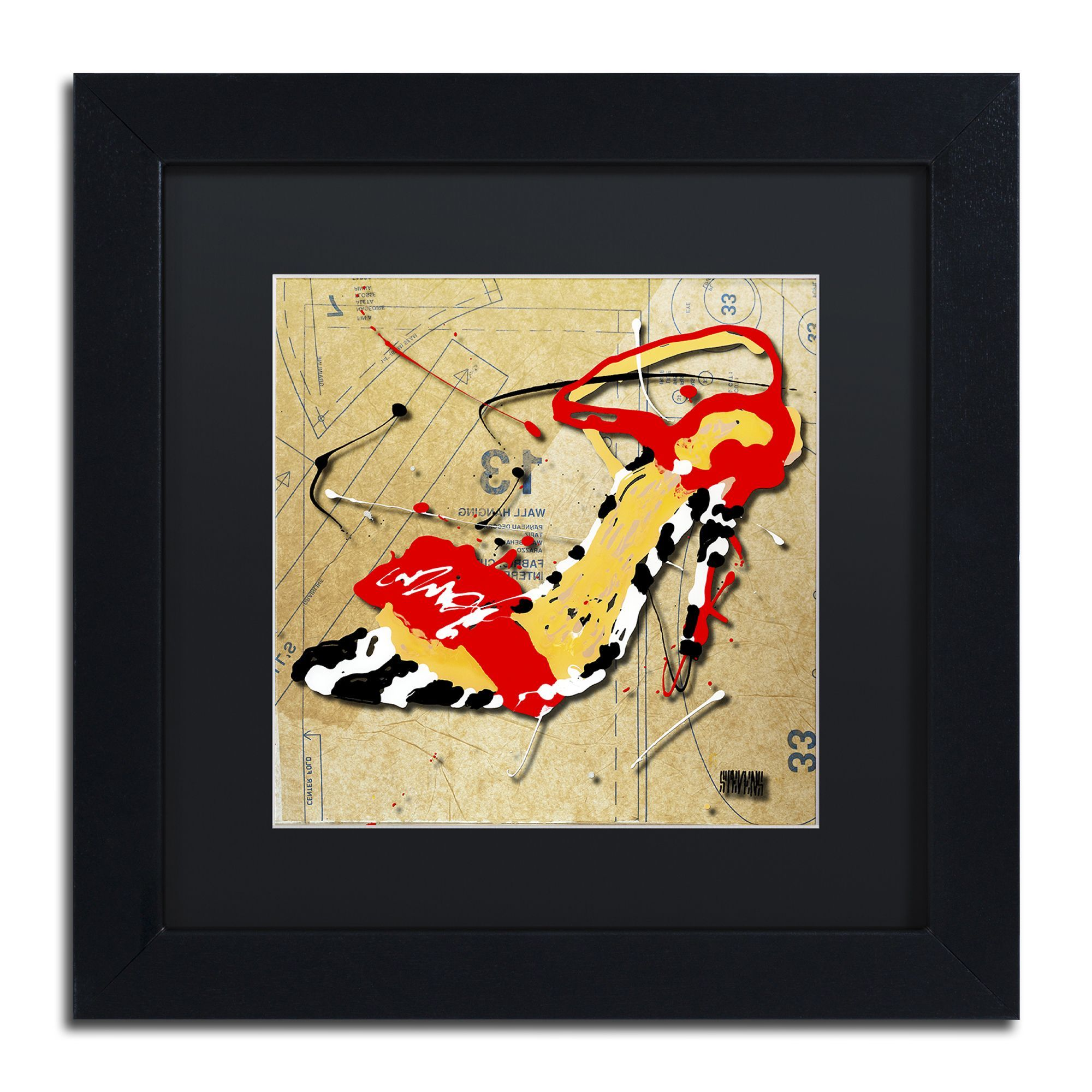 Roderick Stevens \'Zebra Heel Red\' Matte, Framed Wall Art | Products ...