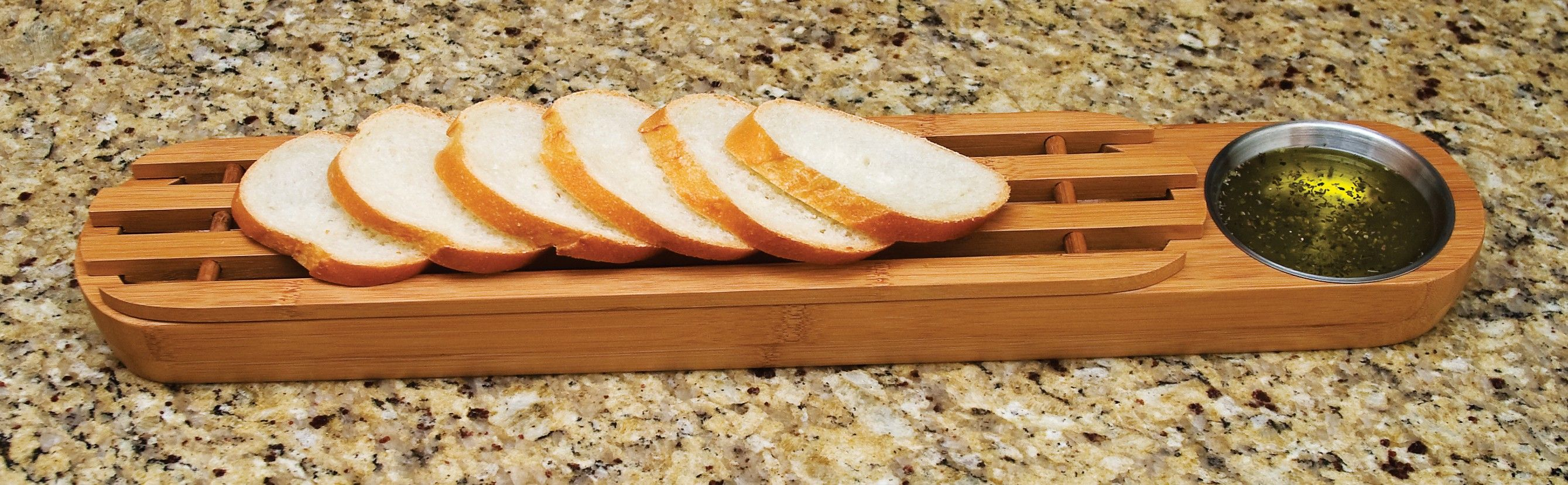 Lipper international 8241 bamboo bread board w stainless