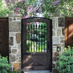 wood and wrought iron fence - Google Search