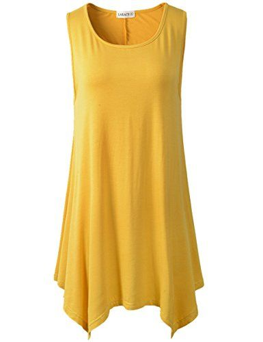 df0c7baa24f66 Lanmo Women Plus Size Solid Basic Flowy Tank Tops Summer ... https