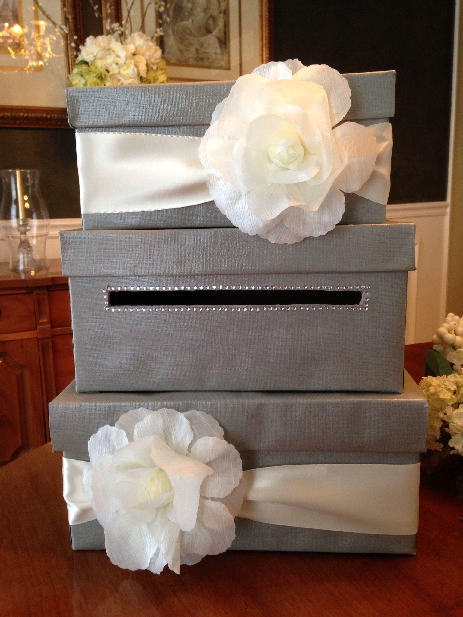 Easy DIY card box paper mache boxes scrapbook paper and modge