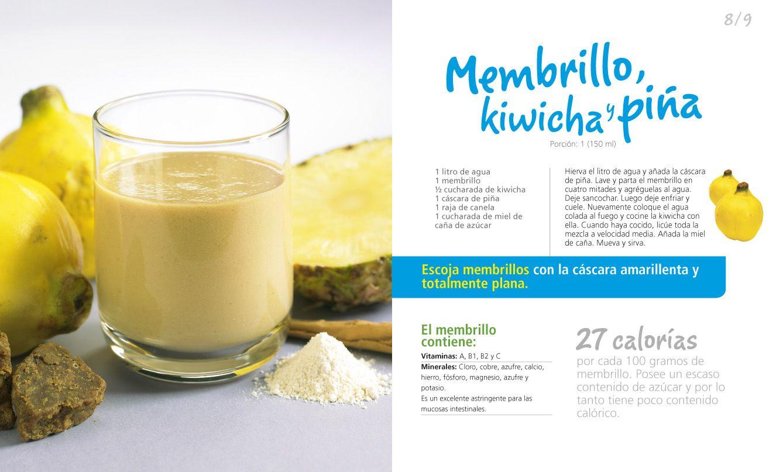 jugo de membrillo + kiwicha + piña