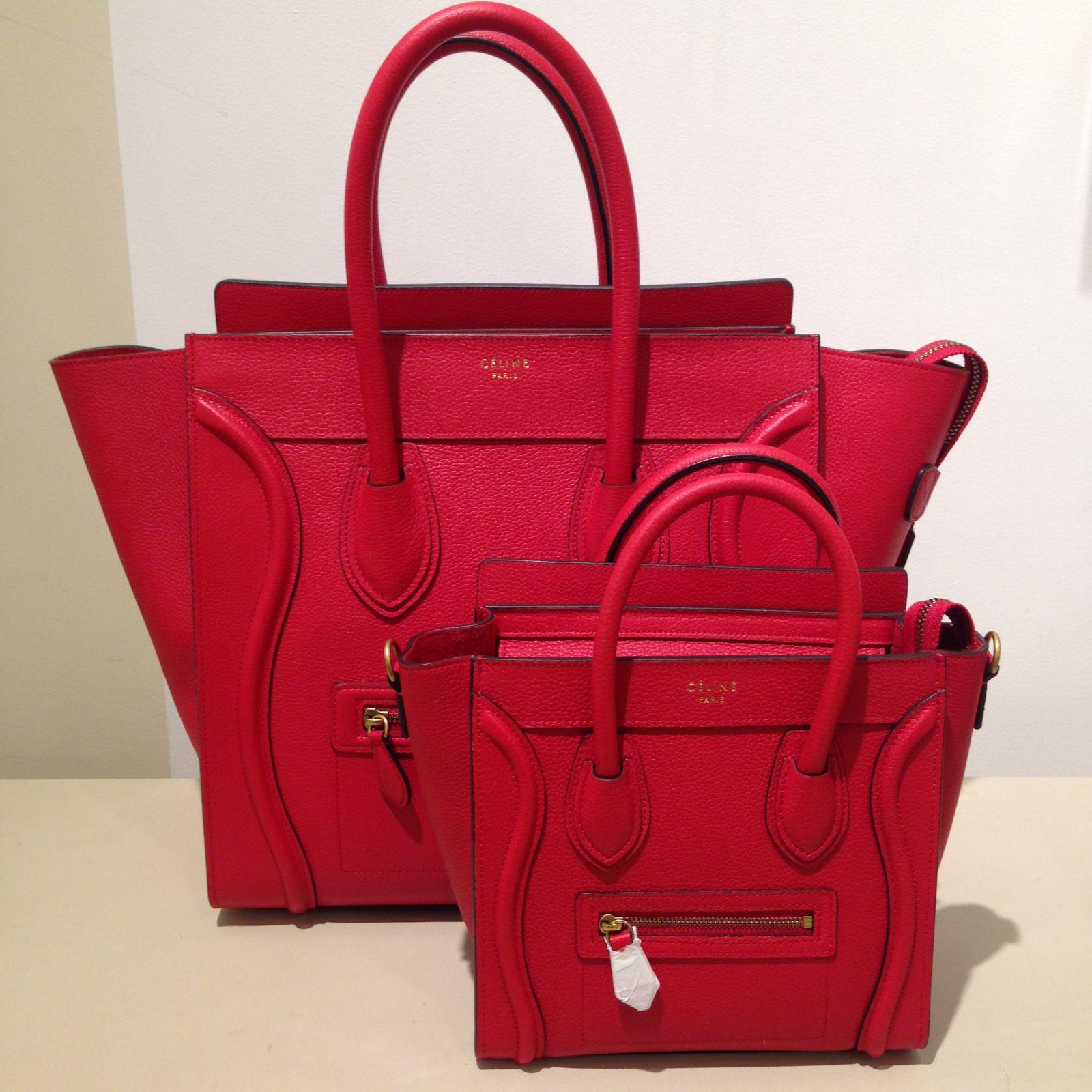 e9889e2088ee Celine Red Nano Luggage Bag