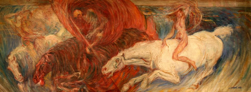 58. Carlo Carrà, 1908, I cavalieri dell'Apocalisse, Chicago, Art Institute of Chicago