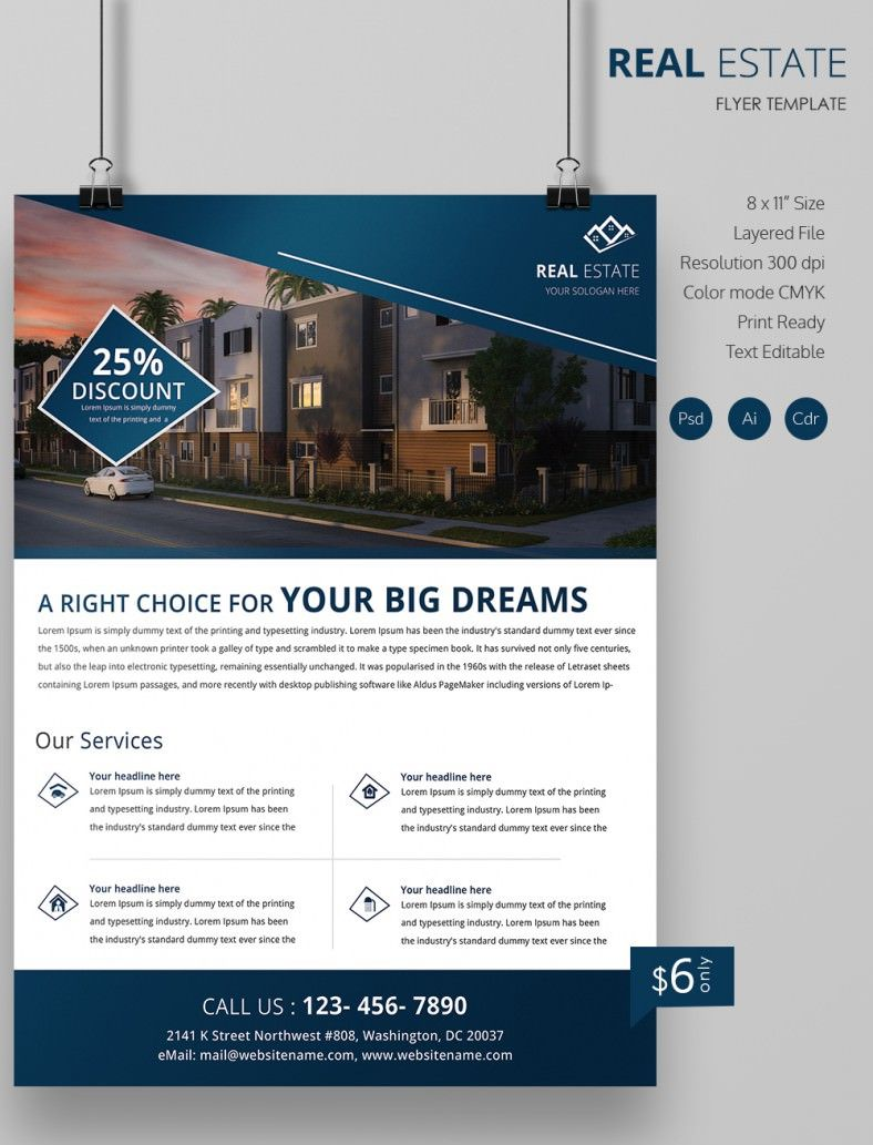 Real Estate Flyers   Free Psd Ai Vector Eps Format Download