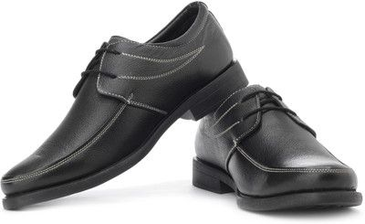 lee cooper black leather shoes