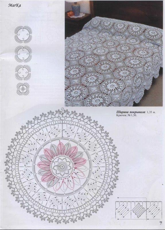 Crochet: Bedspread | Blankets | Pinterest | Colchas, Manta y Tejido