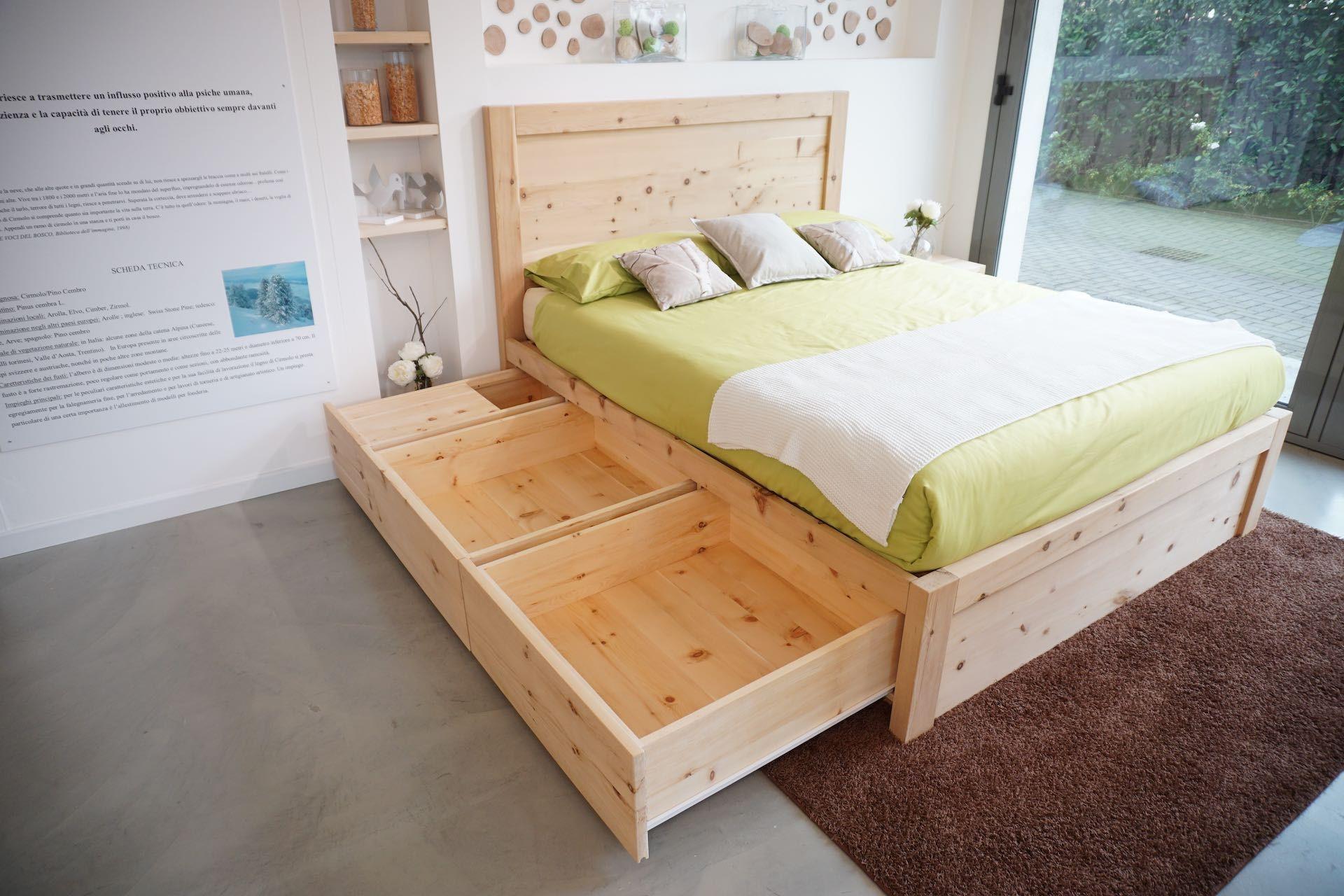 letto legno massello di cirmolo a 6 cassetti | Idee per ...