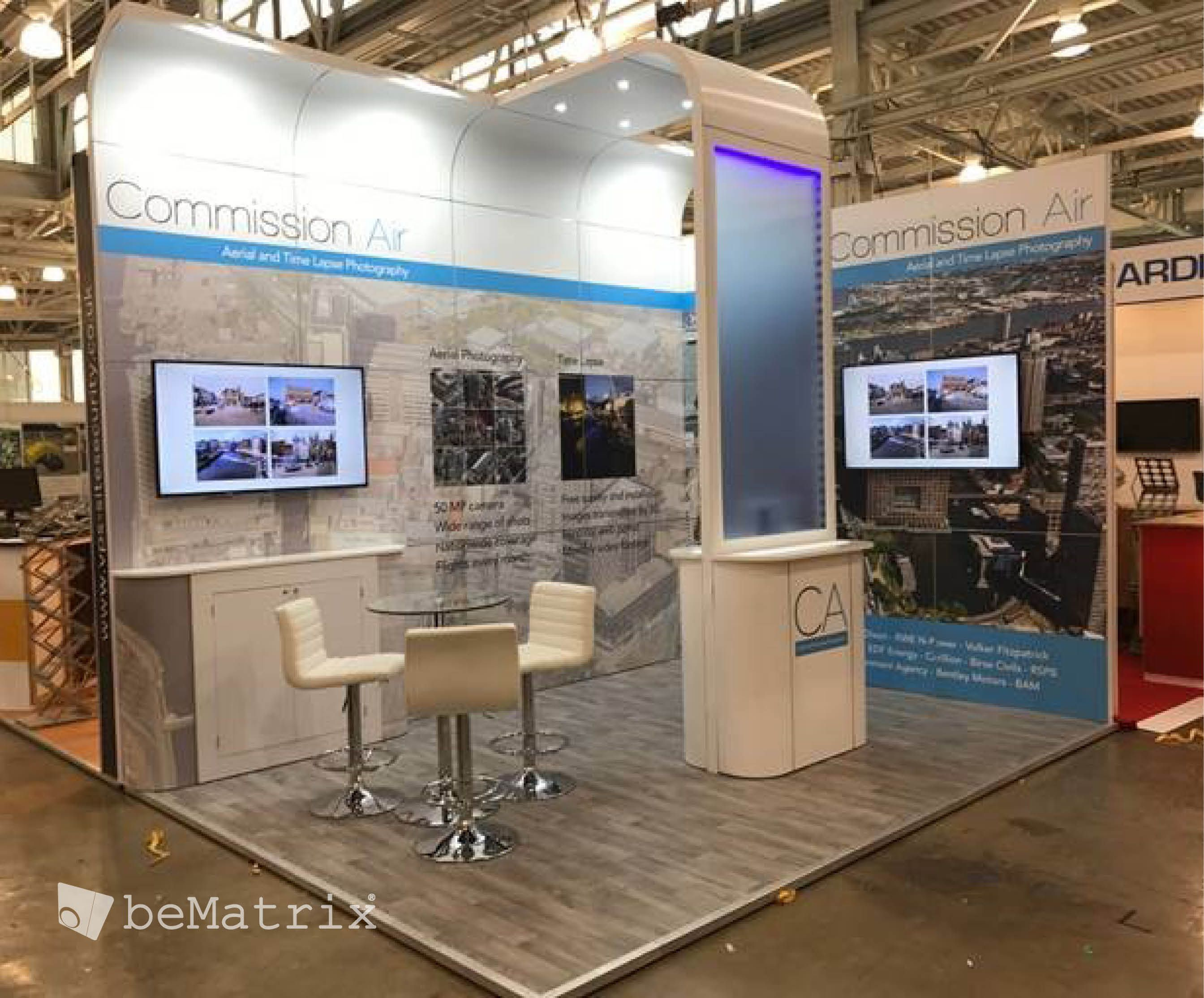 Client Modex UK created this perfect stand for customer Commission