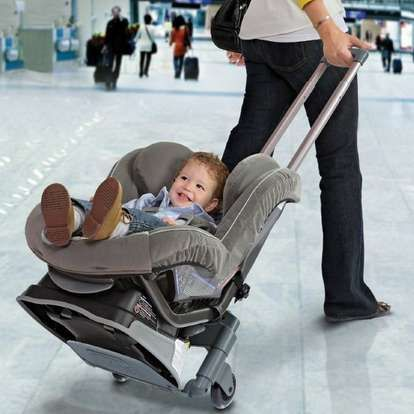 The Brica Rolln Go Makes Car Seat Airplane Travel Much Easier Baby Newparent Trendhunter
