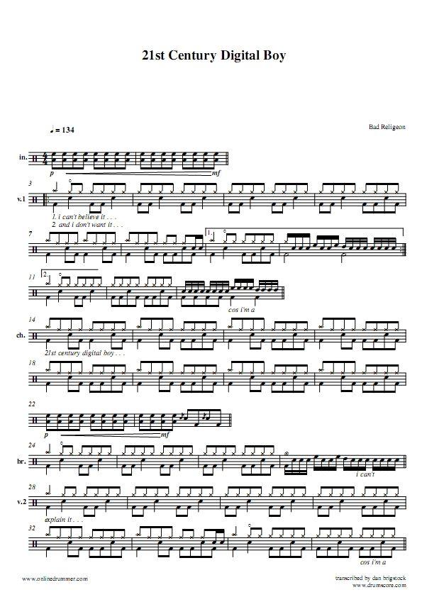 Bad Religeon 21st Century Digital Boy Pagenumber 001 Drummer