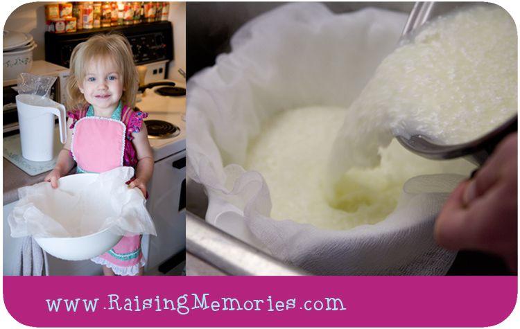 Raising Memories: Easy Homemade Cheese