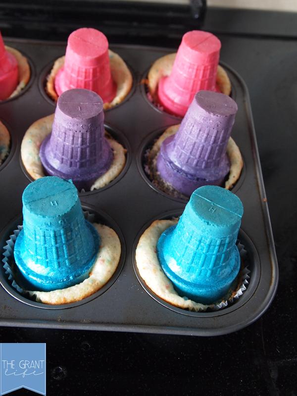 baking cupcakes in ice cream cones