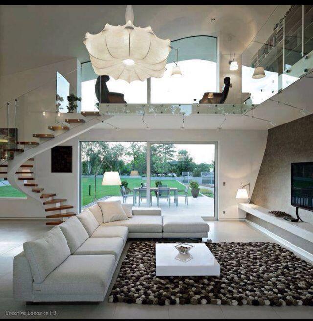Salas modernas de estar e jantar arredamento d 39 interni for Arredamenti interni da sogno