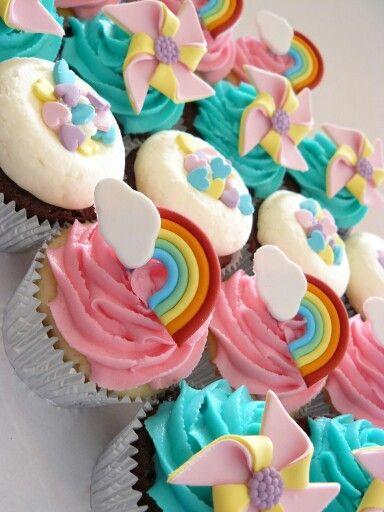 Rainbow Cupcakes Children S Cupcakes Cupcakes Cupcake